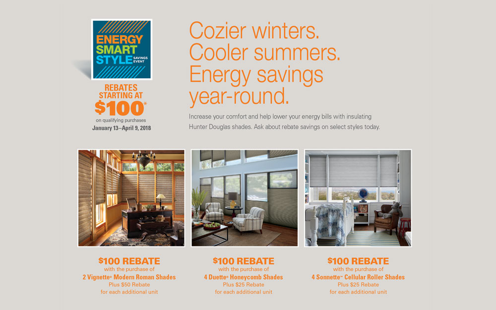 Hunter Douglas Energy Smart Style Savings Event!