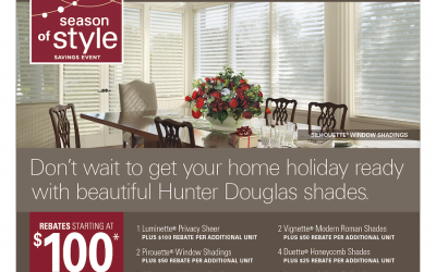 Hunter Douglas Season of Style Promotion
